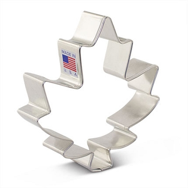 Maple Leaf Cookie Cutter - Large 3.75 inch by Ann Clark