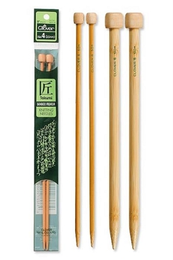 Size 10.5 - 6.5 mm Clover Bamboo Knitting Needle Single Point 9 in